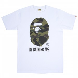 A Bathing Ape Men 1st Camo By Bathing Ape Tee (white / green)