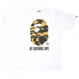 A Bathing Ape Men 1st Camo By Bathing Ape Tee (white / yellow)