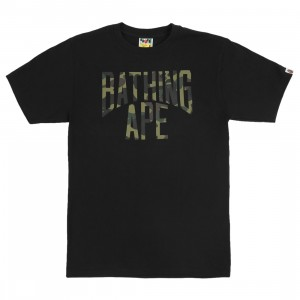 A Bathing Ape Men 1st Camo NYC Logo Tee (black / green)