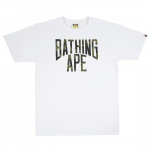 A Bathing Ape Men 1st Camo NYC Logo Tee (white / green)