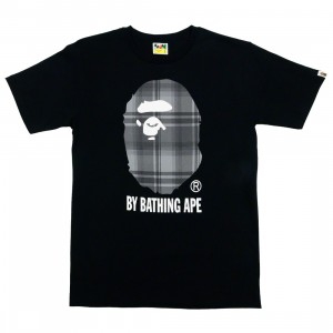 A Bathing Ape Men Bape Check By Bathing Ape Tee (black / black)