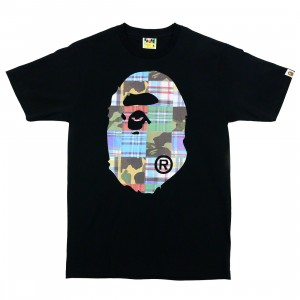 A Bathing Ape Men Patchwork Big Ape Head Tee (black)