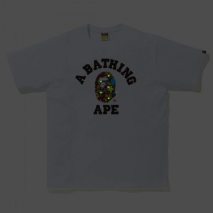 A Bathing Ape Men Milo Banana Pool College Tee (white)