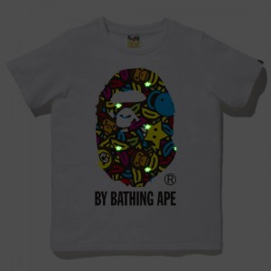 A Bathing Ape Men Milo Banana Pool By Bathing Ape Tee (white)