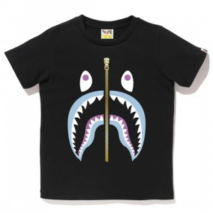 A Bathing Ape Men Colors Shark Tee (black)
