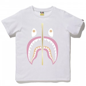 A Bathing Ape Men Colors Shark Tee (white)