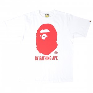 A Bathing Ape Men Bicolor By Bathing Ape Tee (white)
