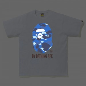 A Bathing Ape Men Reflector Color Camo By Bathing Tee (white / navy)