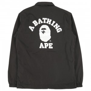 A Bathing Ape Men College Coach Jacket (black)