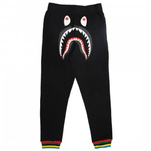 A Bathing Ape Men Shark Line Rib Slim Sweat Pants (black)