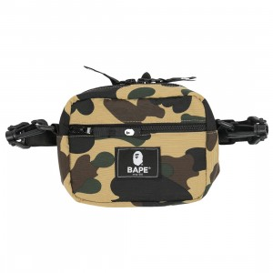 A Bathing Ape 1st Camo Mini Shoulder Bag (yellow)