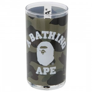 A Bathing Ape 1st Camo College Glass Cup (green)