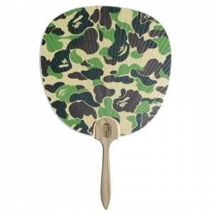 A Bathing Ape ABC Camo Japnese Fan (green)