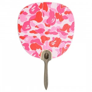 A Bathing Ape ABC Camo Japnese Fan (pink)
