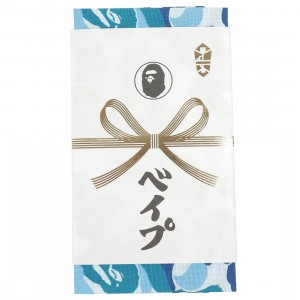 A Bathing Ape ABC Camo Tenugui Hand Towel (blue)