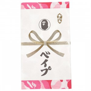 A Bathing Ape ABC Camo Tenugui Hand Towel (pink)