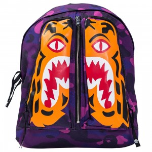 A Bathing Ape Color Camo Tiger Day Pack (purple)