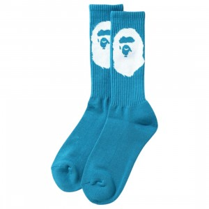 A Bathing Ape Men Big Ape Head Socks (blue)