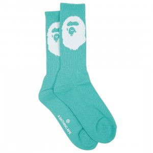 A Bathing Ape Men Big Ape Head Socks (green)