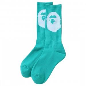 A Bathing Ape Men Big Ape Head Socks (green)