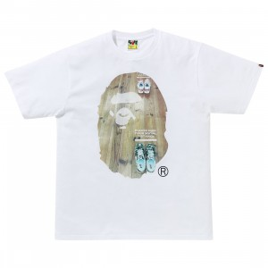 A Bathing Ape Men Social Distance Big Ape Head Tee (white)