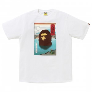 A Bathing Ape Men Japan A Bathing Ape Tee (white)