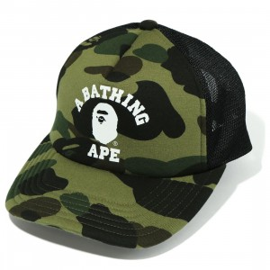 A Bathing Ape 1st Camo College Mesh Cap (green)