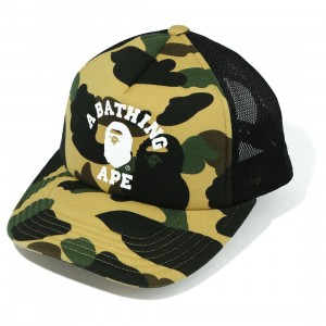 A Bathing Ape 1st Camo College Mesh Cap (yellow)