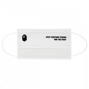 A Bathing Ape ABC Neon Camo Case And Mask (white)