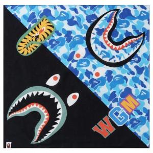 A Bathing Ape ABC Shark Bandana (blue)