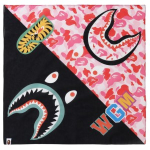 A Bathing Ape ABC Shark Bandana (pink)