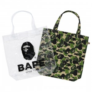A Bathing Ape ABC Camo Clear Tote Bag (green)