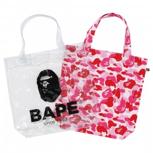 A Bathing Ape ABC Camo Clear Tote Bag (pink)