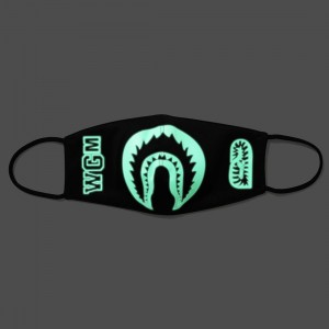 A Bathing Ape Glow In The Dark Shark Mask (black)