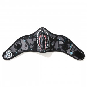 A Bathing Ape Space Camo Shark Mask (black)
