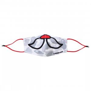 A Bathing Ape Christmas City Camo Mask (white)