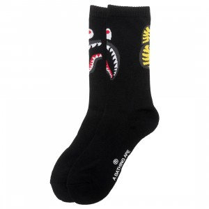 A Bathing Ape Men 2nd Shark Socks (black)