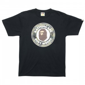 A Bathing Ape Men 1st Camo Busy Works Tee (black / green)