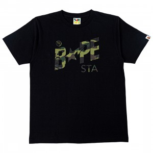 A Bathing Ape Men 1st Camo Bape Sta Logo Tee (black / green)