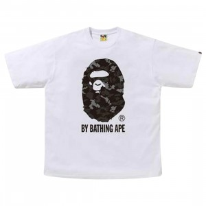 A Bathing Ape Men Digital Camo By Bathing Ape RLX Tee (white / black)