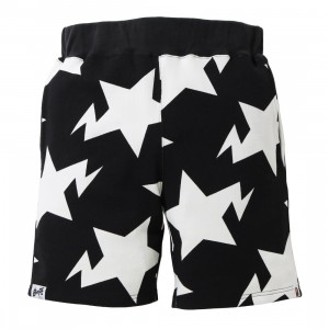 A Bathing Ape Men Sta Pattern Sweat Shorts (black)