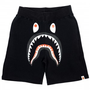 A Bathing Ape Men Shark Sweat Shorts (black)