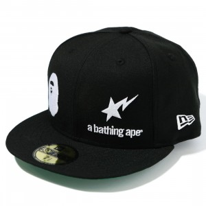A Bathing Ape New Era 59 Fifty A Bathing Ape Cap (black)