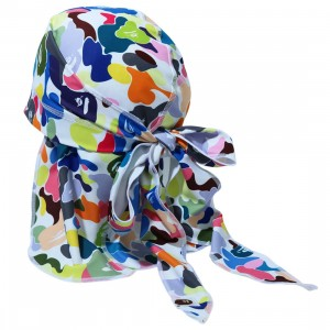 A Bathing Ape Multi Camo Du-Rag (white)