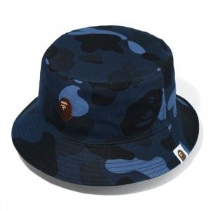 A Bathing Ape Color Camo Bucket Hat (navy)
