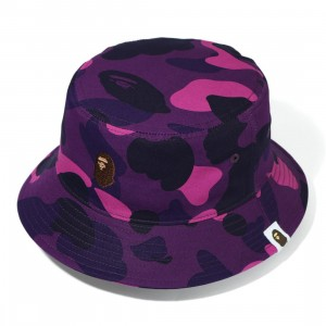 A Bathing Ape Color Camo Bucket Hat (purple)