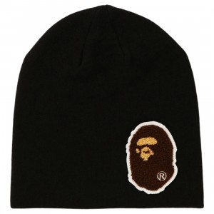 A Bathing Ape Big Ape Head Knit Cap (black)