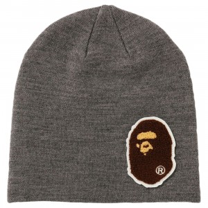 A Bathing Ape Big Ape Head Knit Cap (gray)