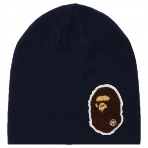 A Bathing Ape Big Ape Head Knit Cap (navy)
