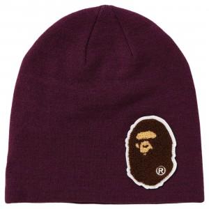 A Bathing Ape Big Ape Head Knit Cap (purple)